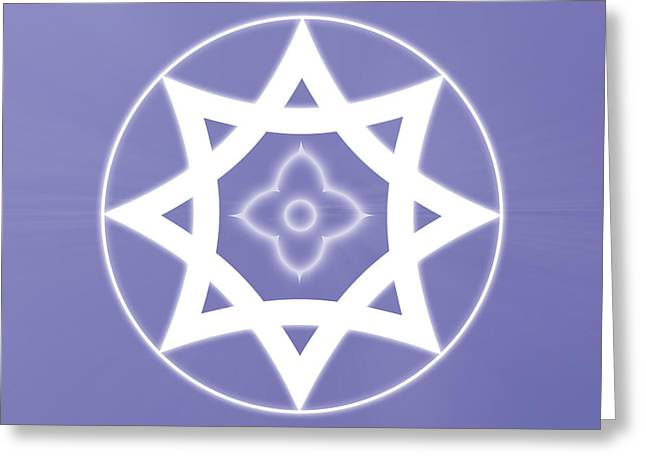 Purple Chakra Greeting Cards - Abundance of the Universe Greeting Card by Sallie Keys