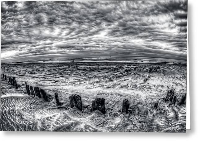 York Beach Greeting Cards - Abyss Ahead Beach Closed Greeting Card by Mike  Deutsch
