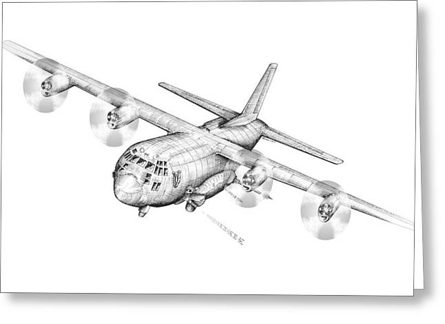 Ac-130 Greeting Cards - Ac-130 Greeting Card by Dennis Bivens