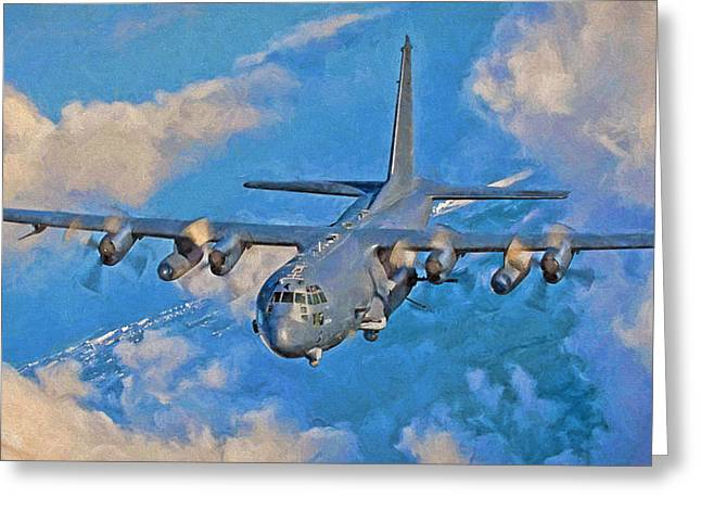 Ac-130 Greeting Cards - AC-130U Spooky Greeting Card by Dale Jackson