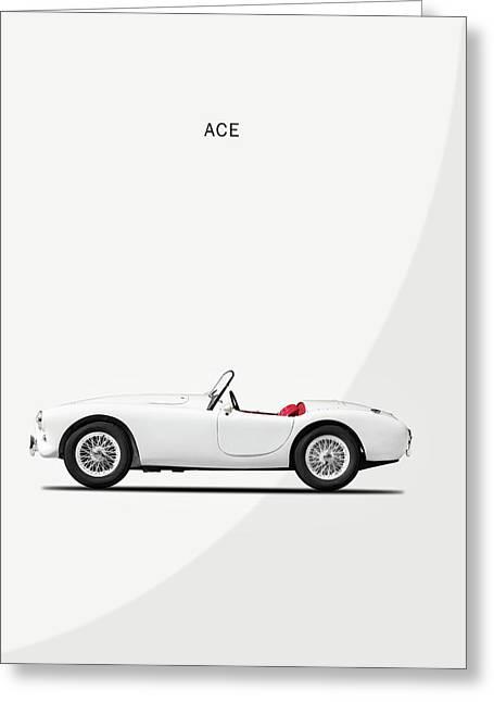 Ac Ace Greeting Card by Mark Rogan