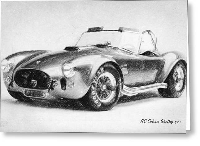 Cobra Poster Greeting Cards - AC Cobra Shelby 427  Greeting Card by Taylan Soyturk