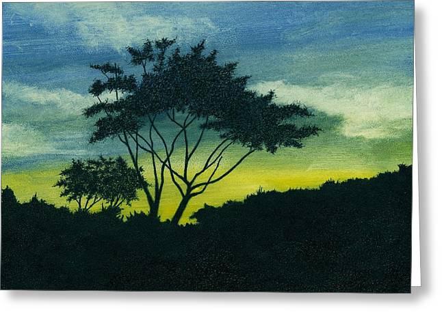 Tree. Acacia Greeting Cards - Acacia Tree Greeting Card by Michael Vigliotti