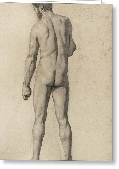 Academic Nude Greeting Card by Paul Cezanne