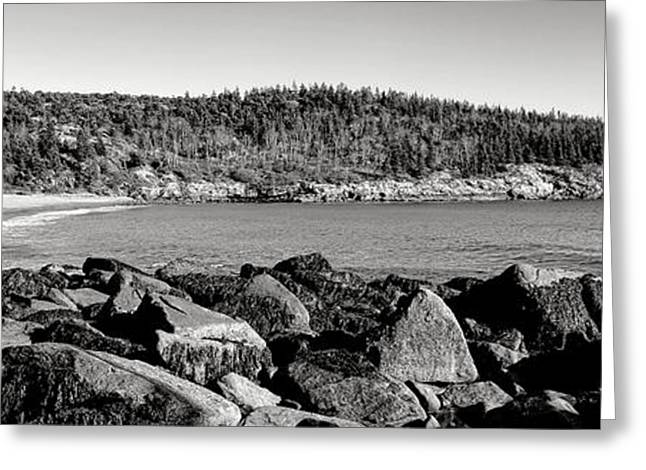 Acadia National Park Sand Beach Greeting Card by Olivier Le Queinec
