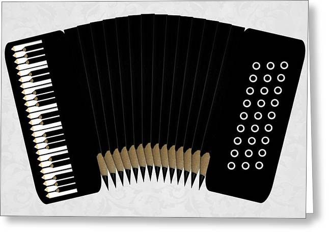 Pencil Greeting Cards - Accordion Greeting Card by Udo Dittmann