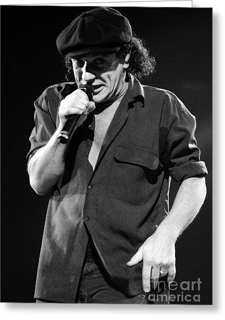 Malcolm Young Greeting Cards - ACDC-96-Brian-0073 Greeting Card by Timothy Bischoff