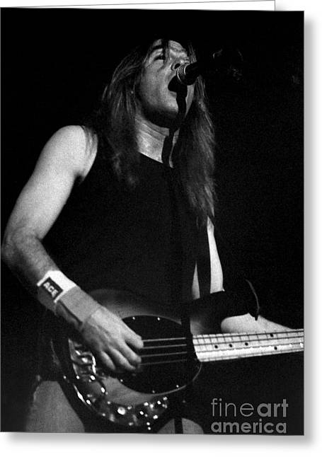 Malcolm Young Greeting Cards - ACDC-96-Cliff-0101 Greeting Card by Timothy Bischoff