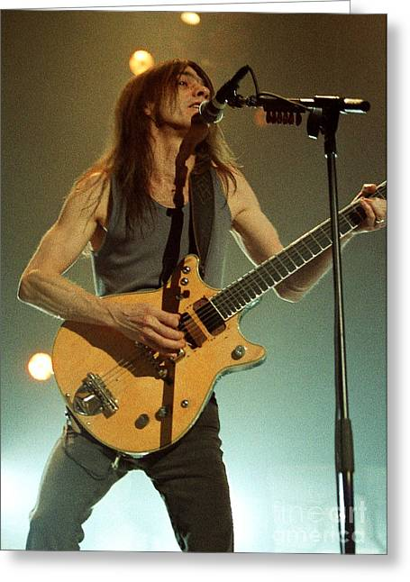Malcolm Young Greeting Cards - ACDC-96-Malcolm-0125 Greeting Card by Timothy Bischoff