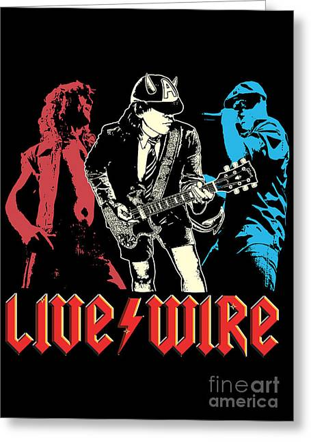 Live Music Digital Art Greeting Cards - ACDC No.02 Greeting Card by Caio Caldas