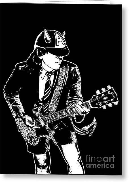 Player Digital Greeting Cards - ACDC No.03 Greeting Card by Caio Caldas