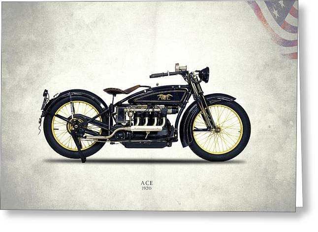 Ace Motorcycle 1920 Greeting Card by Mark Rogan