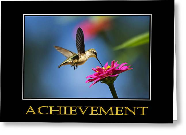 Positive Attitude Mixed Media Greeting Cards - Achievement  Inspirational Motivational Poster Art Greeting Card by Christina Rollo