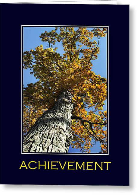 Positive Attitude Greeting Cards - Achievement Inspirational Poster Art Greeting Card by Christina Rollo