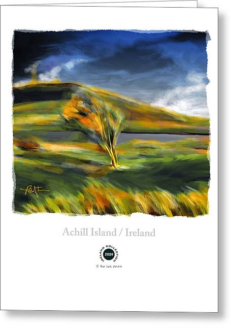 Autumn Landscape Mixed Media Greeting Cards - Achill Island Ireland Autumn Colors Greeting Card by Bob Salo