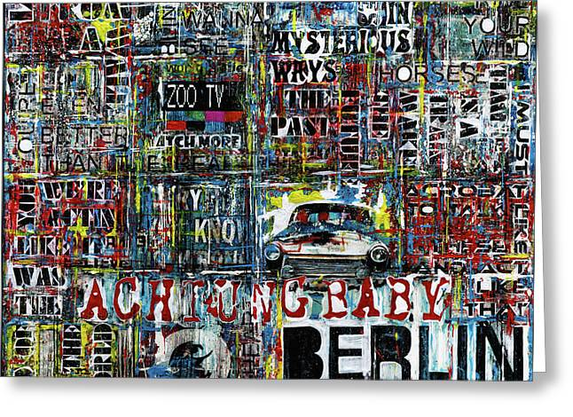 Achtung Baby Greeting Card by Frank Van Meurs