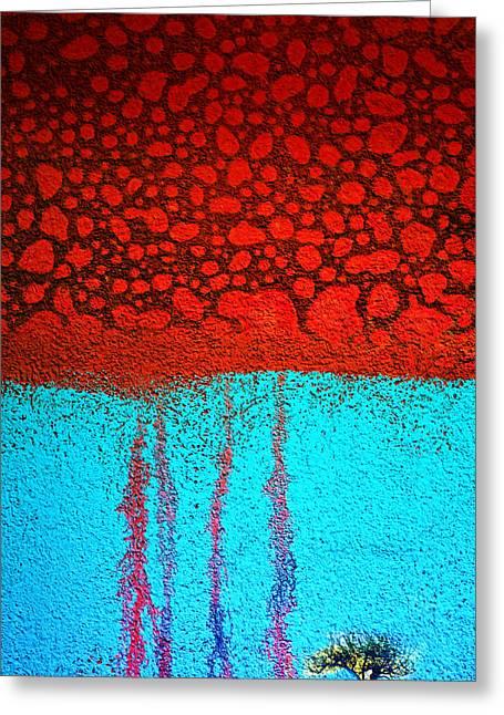 Acid Rain Greeting Card by Tara Turner