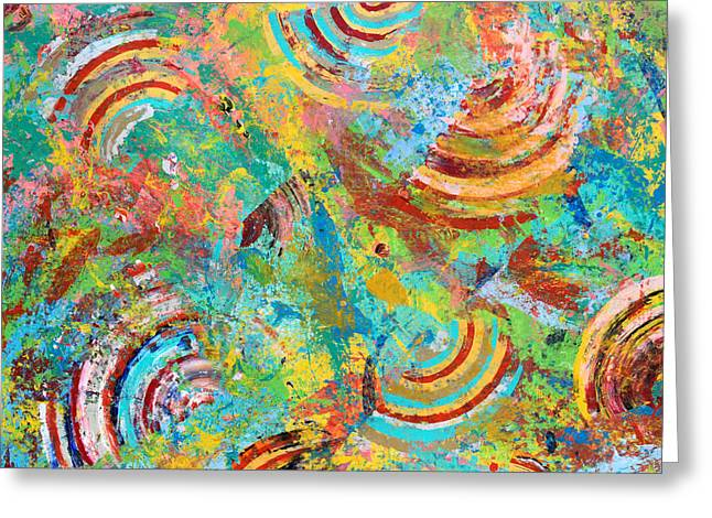 Acid Trip 3 Greeting Card by Sumit Mehndiratta
