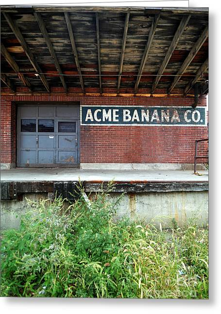 Overgrown Greeting Cards - Acme Banana Company Strip District Pittsburgh Greeting Card by Amy Cicconi