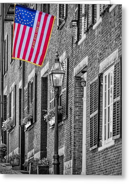 Confederate Flag Greeting Cards - Acorn Street Details SC Greeting Card by Susan Candelario