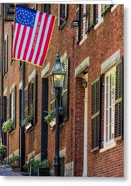 Confederate Flag Greeting Cards - Acorn Street Details Greeting Card by Susan Candelario