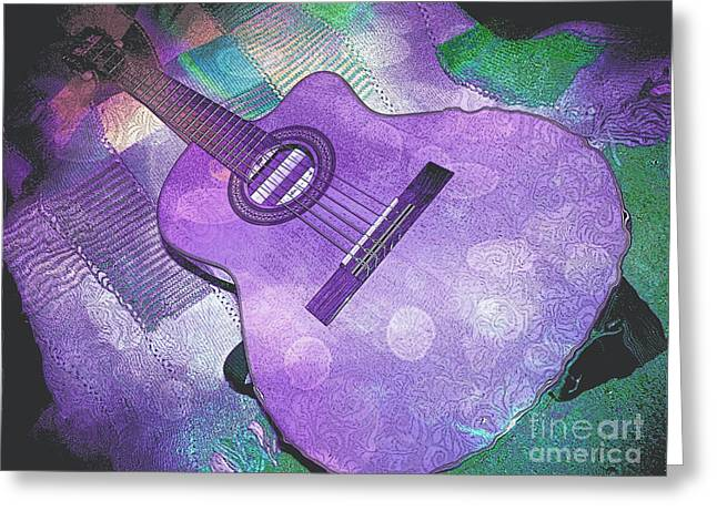 Straps Greeting Cards - Acoustic Dreams 2 Greeting Card by Shelly Weingart
