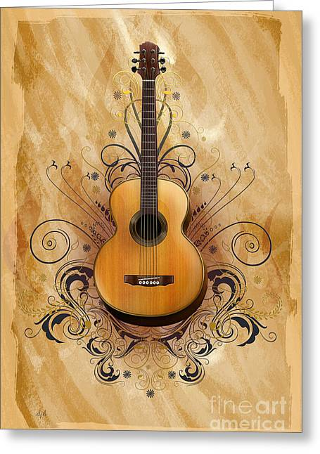 Equipment Mixed Media Greeting Cards - Acoustic Elegance Greeting Card by Bedros Awak