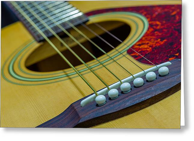 Canon 6d Digital Art Greeting Cards - Acoustic Guitar Greeting Card by Keith Hawley