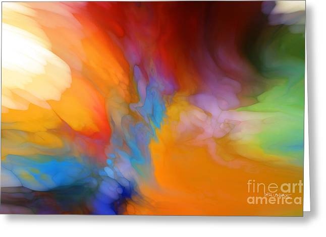 Beige Abstract Greeting Cards - Acquaint Yourself With Him. Job 22 21 Greeting Card by Mark Lawrence
