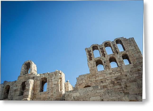Remains Of Images Greeting Cards - Acropolis  Athens, Greece Greeting Card by Dosfotos