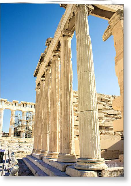 Civilization Greeting Cards - Acropolis Of Athens Greeting Card by Fineart Photographs