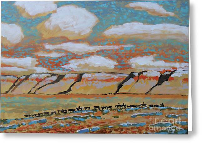 Across The Basin Greeting Card by Kip Decker