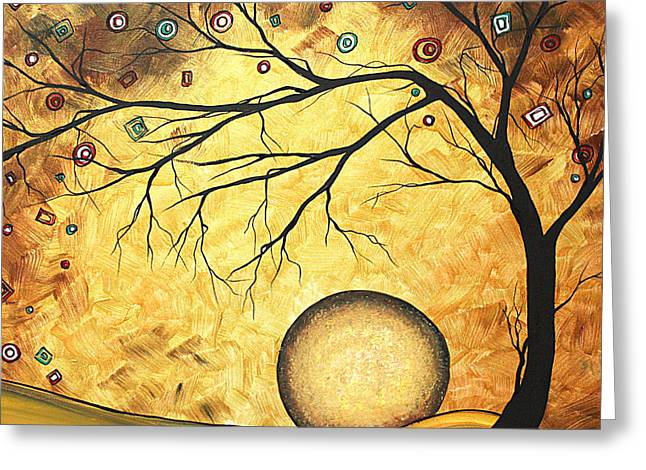 Across the Golden River by MADART Greeting Card by Megan Duncanson