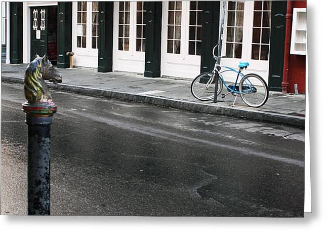 Across the Street Greeting Card by John Rizzuto