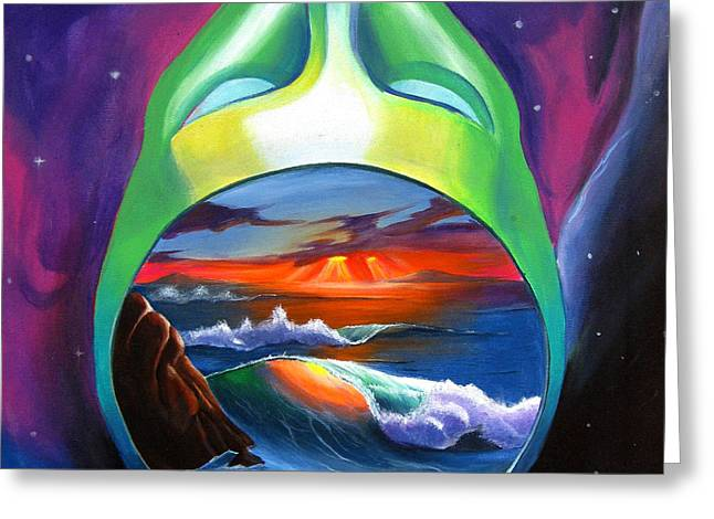 Alien Paintings Greeting Cards - Across The Universe Greeting Card by Matt Truiano