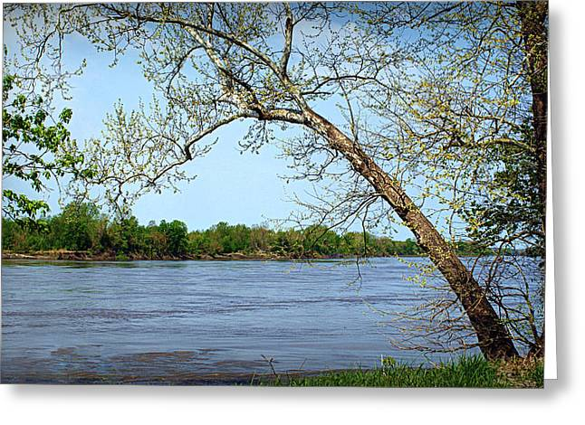 Recently Sold -  - Water Flowing Greeting Cards - Across the Wide Missouri Greeting Card by Cricket Hackmann