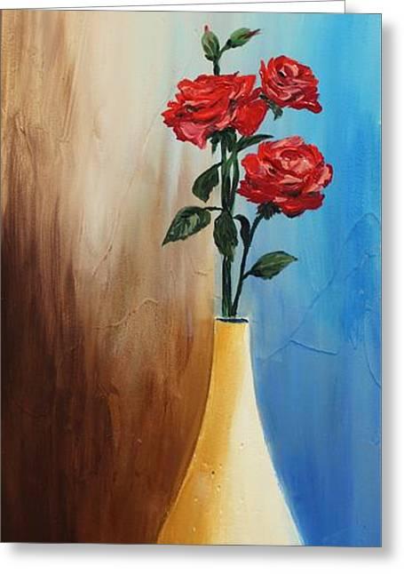 Flower Still Life Prints Greeting Cards - Acrylic 3D MSC 018 Greeting Card by Mario Sergio Calzi