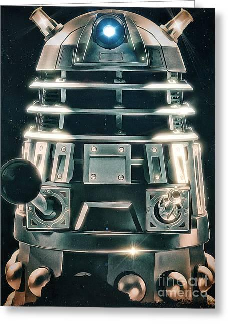 Mccoy Greeting Cards - Acrylic Dalek Greeting Card by Robert Radmore