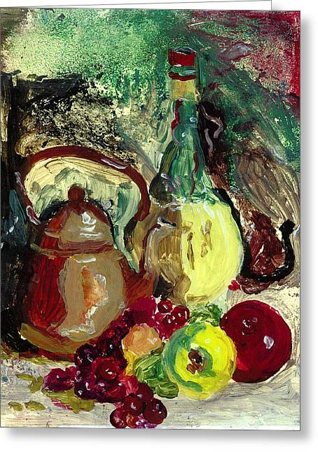 Bottled Glass Greeting Cards - Acrylic Pleasures Greeting Card by Mama Jo Gonzaque