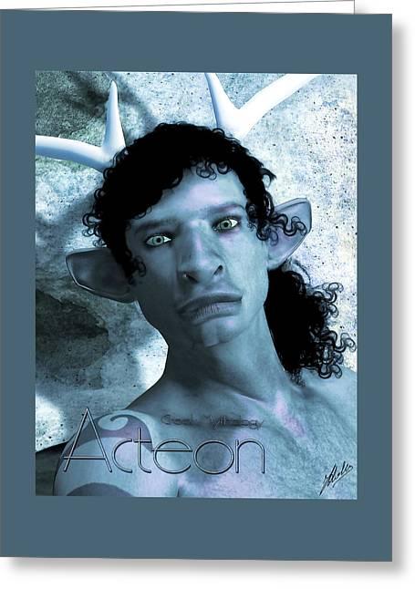 Actaeon Blue  Greeting Card by Quim Abella