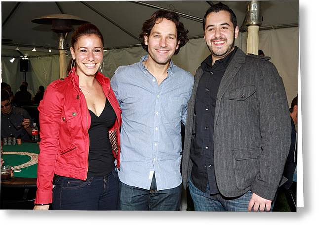 Actor Paul Rudd And Friends Greeting Card by Vivian Frerichs