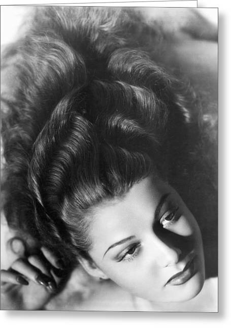 Wavy Hair Greeting Cards - Actress Ann Sheridan Greeting Card by Underwood Archives