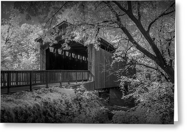 Covered Bridge Greeting Cards - Ada Covered Bridge in West Michigan Greeting Card by Randall Nyhof