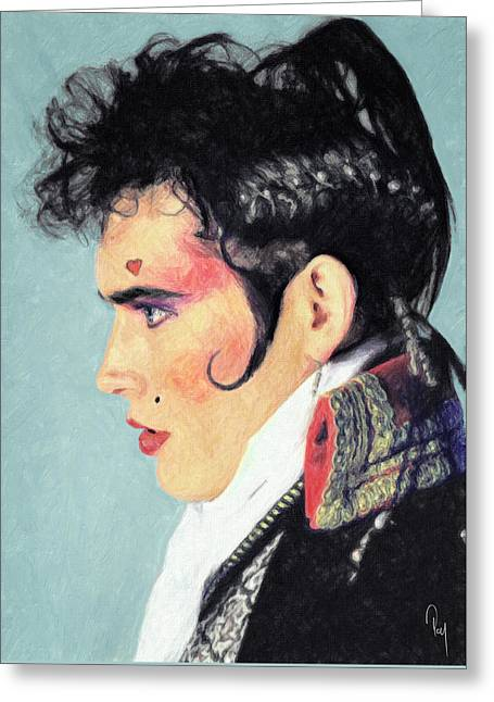 Adam Ant Greeting Card by Taylan Apukovska