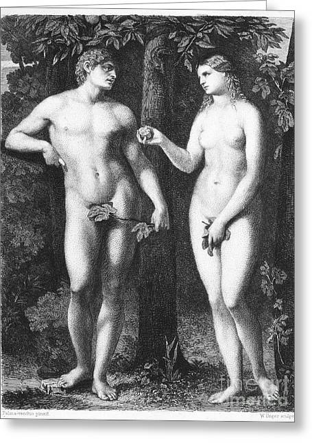 Adam & Eve Greeting Card by Granger