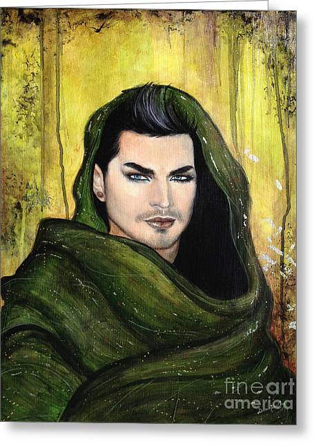 Adam Lambert Greeting Cards - Adam Lambert Greeting Card by Dori Hartley