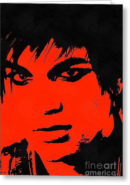 Adam Lambert Greeting Cards - Adam Lambert Greeting Card by Sergey Lukashin