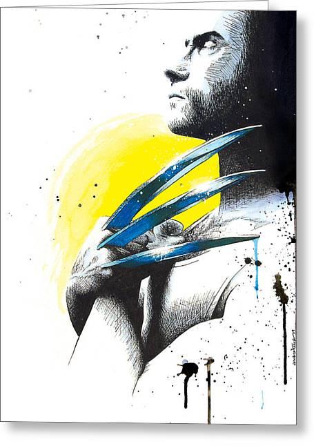 X Men Greeting Cards - Adamantium Greeting Card by Amber Bambler Keller