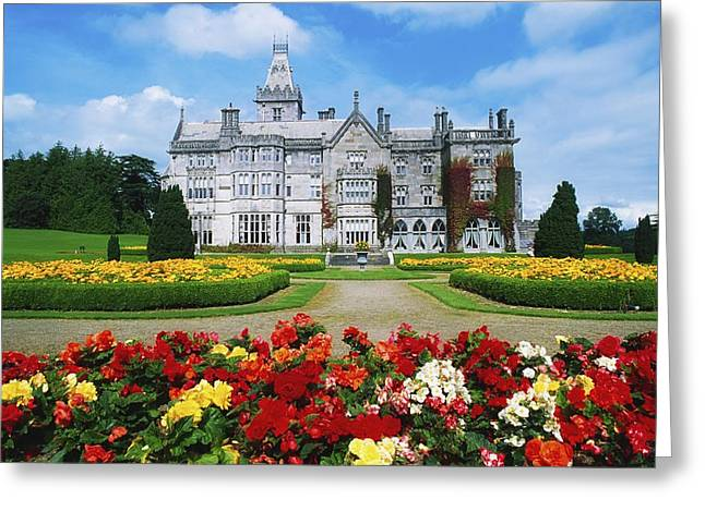 Garden Statuary Greeting Cards - Adare Manor Golf Club, Co Limerick Greeting Card by The Irish Image Collection