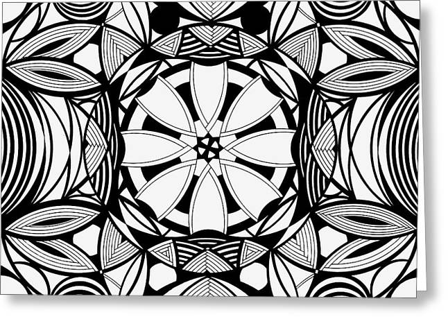 Geometric Art Greeting Cards - A.D.D as easy as one two three Greeting Card by William Anderson